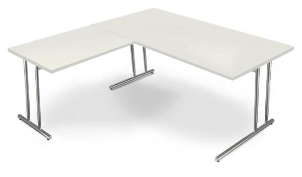 Schreibtisch TOLEDO, mit Anbautisch