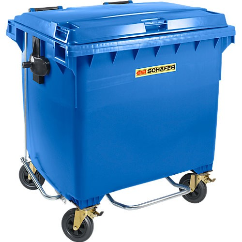 Müllcontainer SSI Schäfer MGB FDP, Flachdeckel, Pedalöffner
