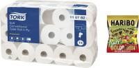 Toilettenpapier TORK®, inkl. Haribo Saft Goldbären Minis