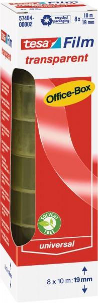 Klebefilm tesa, ø 26 mm, L 10 m x B 19 mm - 8 Stück