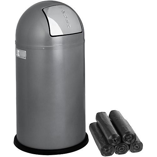 Abfallbehälter WESCO Pushboy, 60 l - inkl. 15 Abfallsäcken