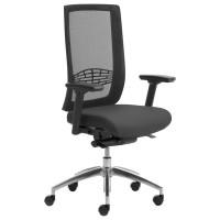 Bürostuhl Leyform WIKI, mit Armlehnen/Netzrücken/Aluminium