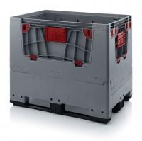 Palettenbox AUER Big Box, L 1200 x B 800, 3 Kufen