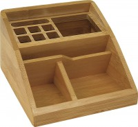 Tischorganizer WEDO Bambus, schräg