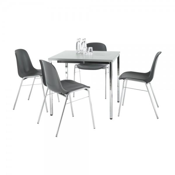 Komplettset BETA, 4 Stühle & Tisch