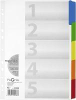 Register PAGNA, mit farbigen Taben