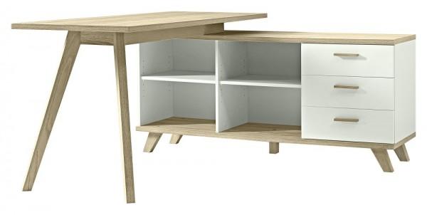 Schreibtisch OSLO, mit Sideboard