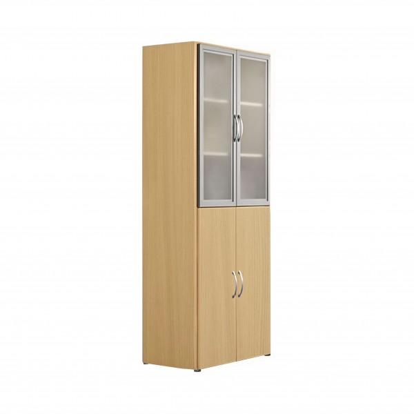 Kombischrank PALENQUE, 6 OH, Glas- und Holztüren