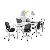 Konferenz-Komplettset, 6 Stühle & Konferenztisch