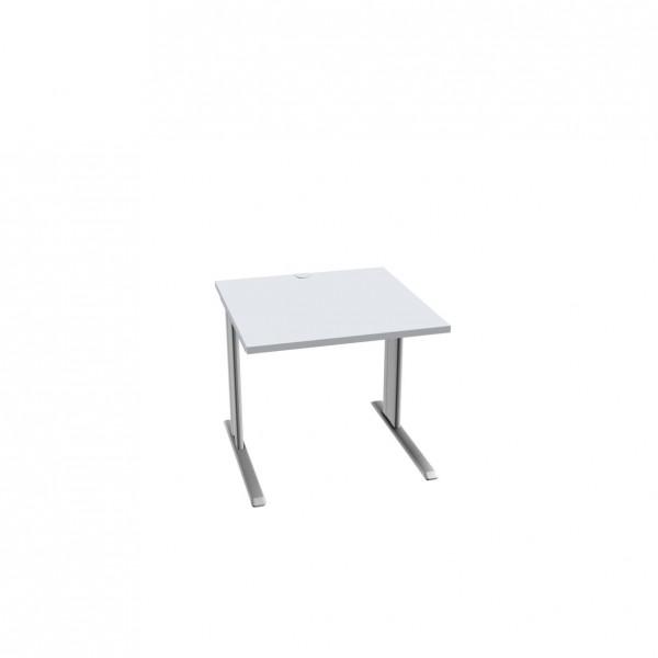 Schreibtisch SSI Schäfer PLANOVA BASIC, weißalu