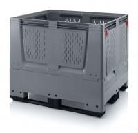 Palettenbox AUER Big Box, 3 Kufen - Lüftungsschlitze