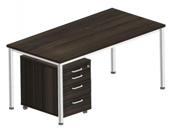 Komplettset BEXXSTAR, Schreibtisch und Rollcontainer
