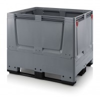 Palettenbox AUER Big Box, L 1200 x B 1000, geschlossen