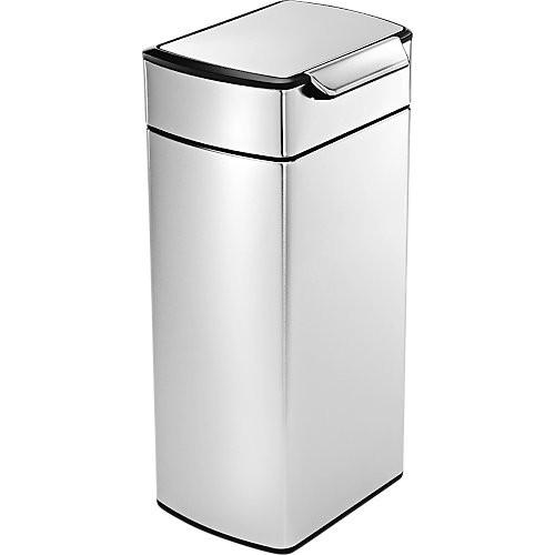 Abfallbehälter simplehuman Touch, Edelstahl