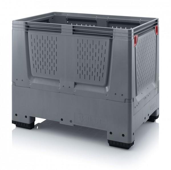 Palettenbox AUER Big Box Lüftungsschlitz, L 1200 x B 800