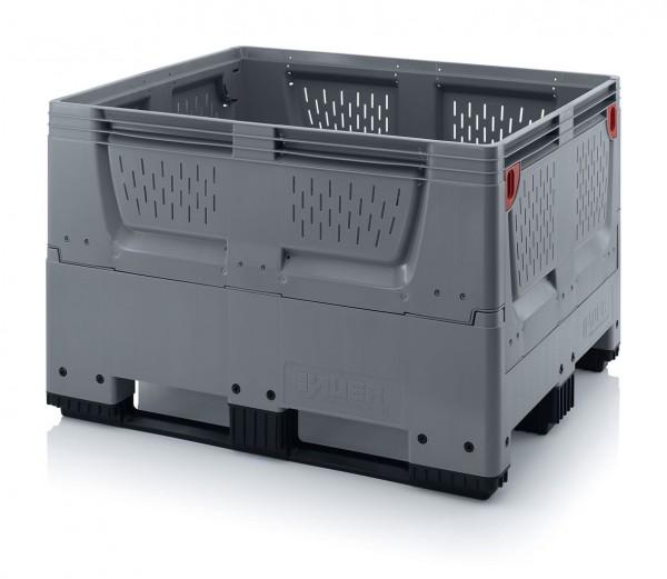 Palettenbox AUER Big Box, B 1000 x L 1200, Lüftungsschlitz