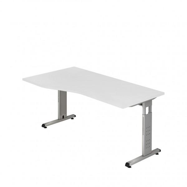 Freiform-Schreibtisch ULM, man. höhenverstellbar