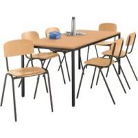 Komplettset RR, 6 Stühle & Tisch