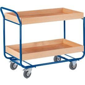 Tischwagen Rollcart, mit Holzleisten-Umrandungen
