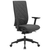 Bürostuhl Leyform WIKI, mit Armlehnen/Stoffbezug/Kunststoff