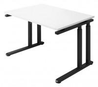 Schreibtisch SET UP, Gestell graphit - man. höhenverstellb.