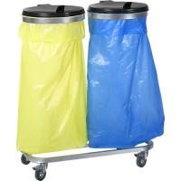 Zweifach-Müllsackhalterung, 120 l