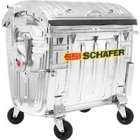 Müllcontainer SSI Schäfer, verzinkt, 1100 l
