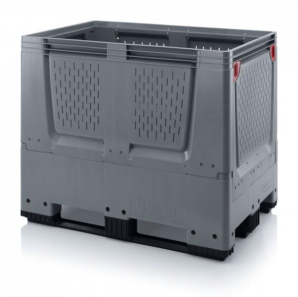 Palettenbox AUER Big Box Lüftungsschlitz, B 800 x L 1200