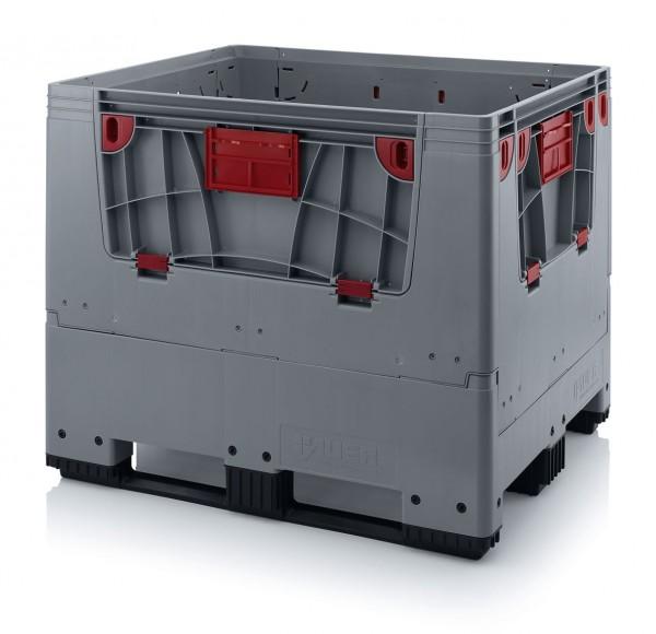 Palettenbox AUER Big Box, L 1200 x B 1000, 3 Kufen
