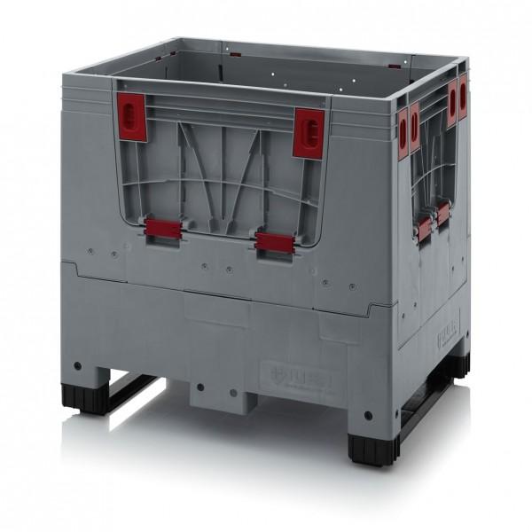 Palettenbox AUER Big Box, L 800 x B 600, 2 Kufen