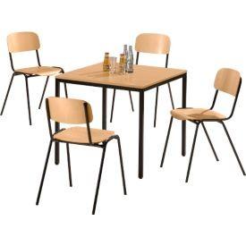 Komplettset RR, 4 Stühle & Tisch