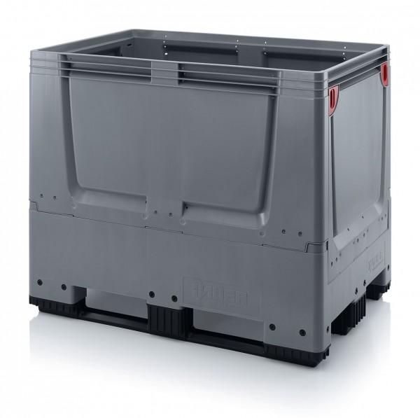 Palettenbox AUER Big Box geschlossen, mit 3 Kufen