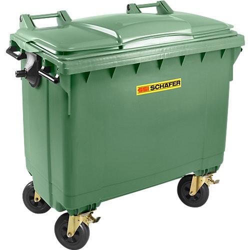 Müllcontainer SSI Schäfer MGB FD, Flachdeckel